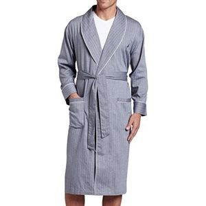 Nautica Grey, Striped Bath Robe Size LG/XL